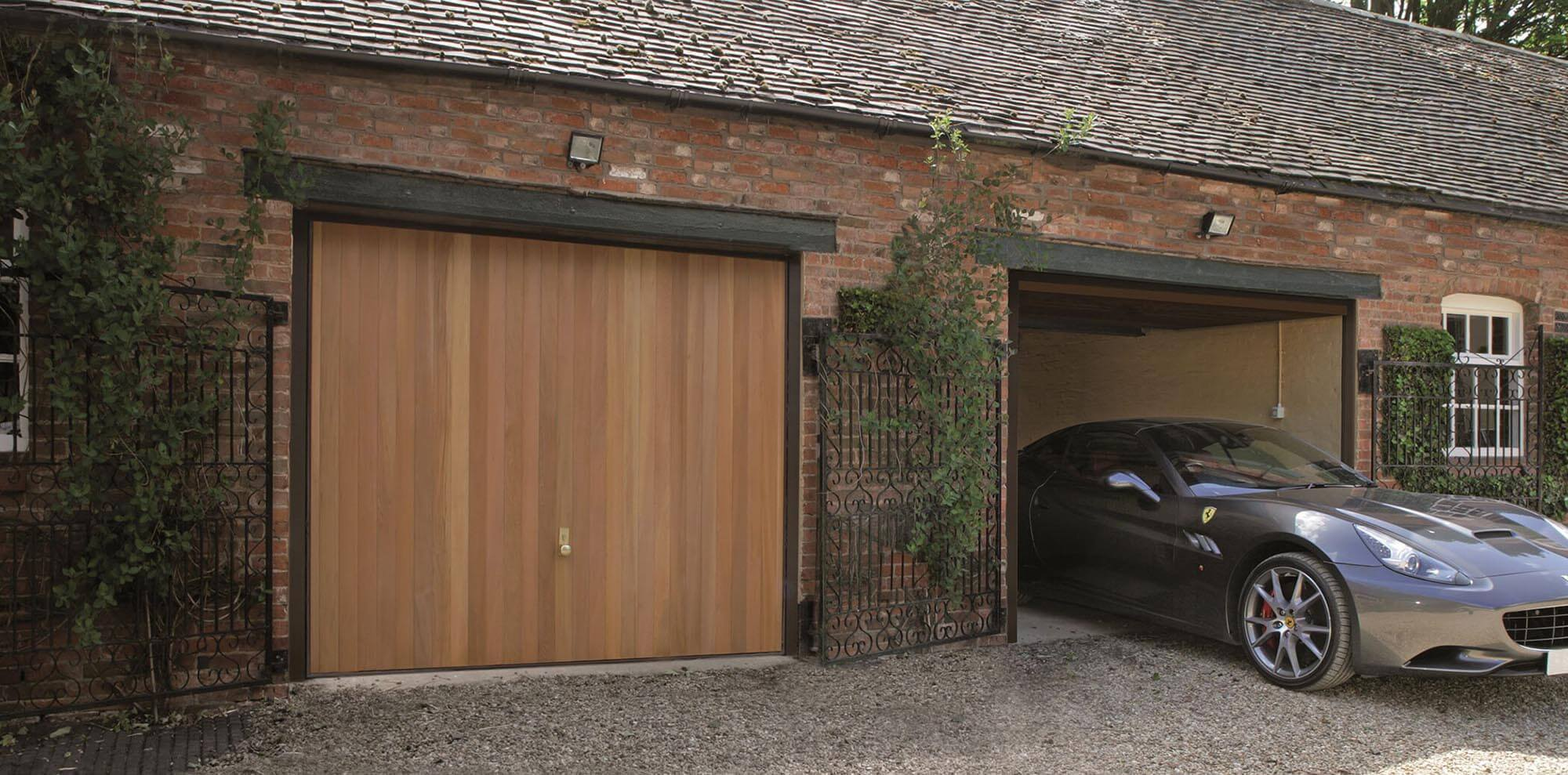 Wooden power doors up and over wooden garage doors glasgow rubansaba